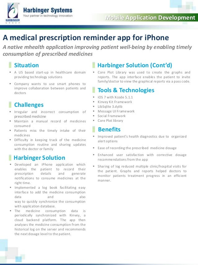 A native mhealth application improving patient well-being by enabling timely consumption of prescribed medicines  A US ba...
