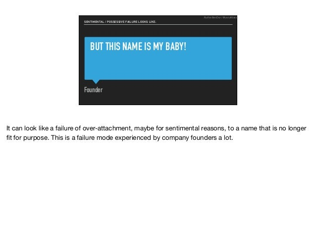 BUT THIS NAME IS MY BABY! Founder SENTIMENTAL / POSSESSIVE FAILURE LOOKS LIKE: Ruthie BenDor / @unruthless It can look lik...