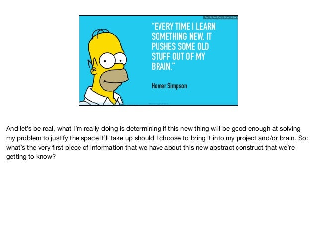 """""""EVERY TIME I LEARN SOMETHING NEW, IT PUSHES SOME OLD STUFF OUT OF MY BRAIN."""" Homer Simpson https://www.planetclaire.tv Ru..."""