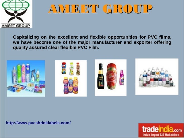 AMEET GROUP Capitalizing on the excellent and flexible opportunities for PVC films, we have become one of the major manufa...