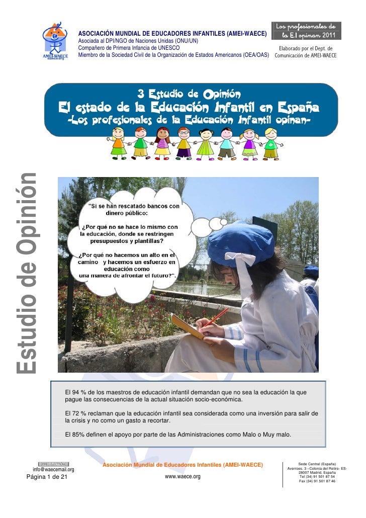 Los profesionales de                                     ASOCIACIÓN MUNDIAL DE EDUCADORES INFANTILES (AMEI-WAECE)         ...