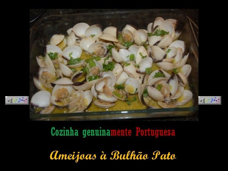 Cozinha genuina mente   Portuguesa Ameijoas à Bulhão Pato