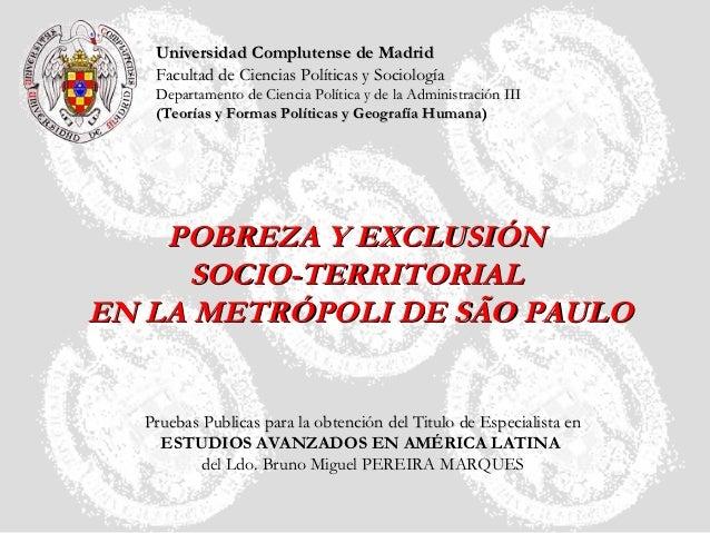 Universidad Complutense de Madrid   Facultad de Ciencias Políticas y Sociología   Departamento de Ciencia Política y de la...