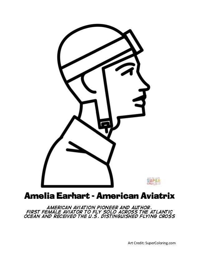 Amelia earhart-coloring