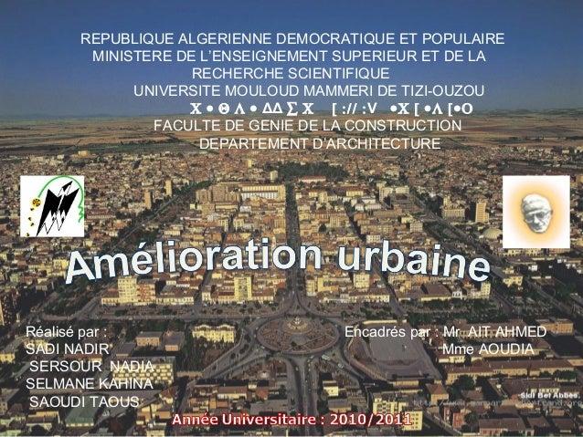 Free Powerpoint TemplatePage 1REPUBLIQUE ALGERIENNE DEMOCRATIQUE ET POPULAIREMINISTERE DE L'ENSEIGNEMENT SUPERIEUR ET DE L...