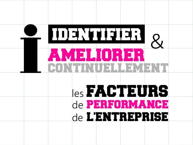 IDENTIFIER AMELIORER  &  continuellement les FACTEURS de PERFORMANCE de L'ENTREPRISE