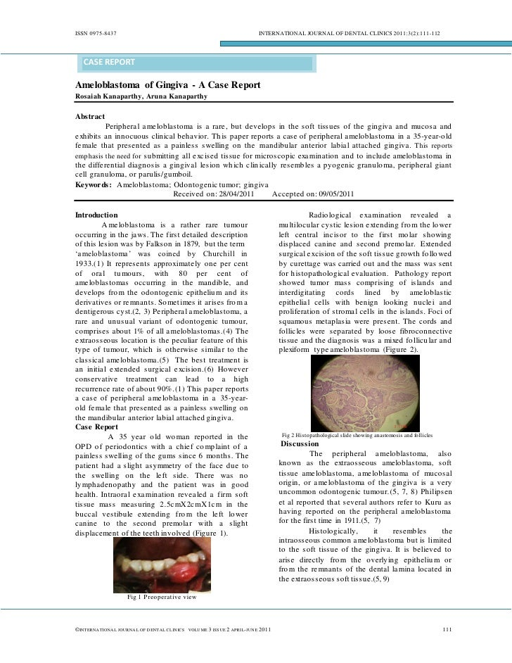 ISSN 0975-8437                                                                  INTERNATIONAL JOURNAL OF DENTAL CLINICS 20...