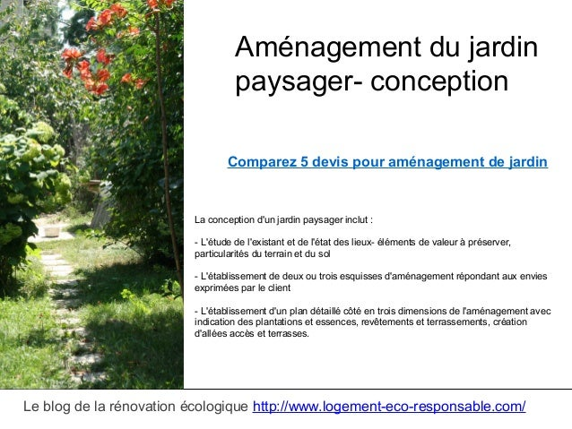 Amenagement jardin paysager for Conception amenagement paysager