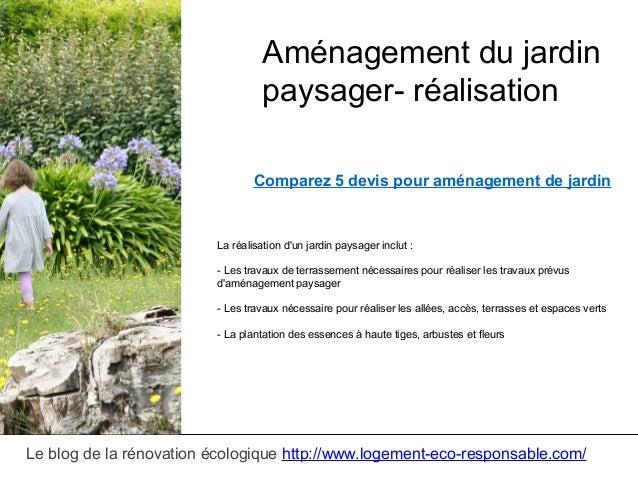 Amenagement jardin paysager for Amenagement jardin paysager