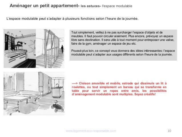 amenager un petit appartement. Black Bedroom Furniture Sets. Home Design Ideas
