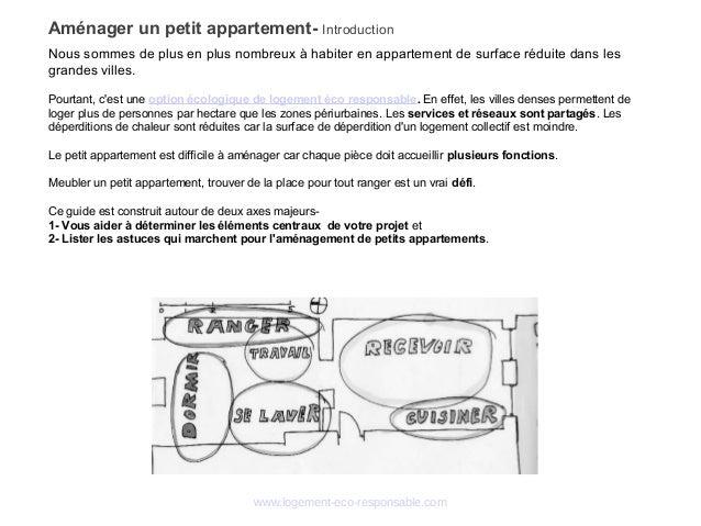 www.logement-eco-responsable.com Aménager un petit appartement- Introduction Nous sommes de plus en plus nombreux à habite...