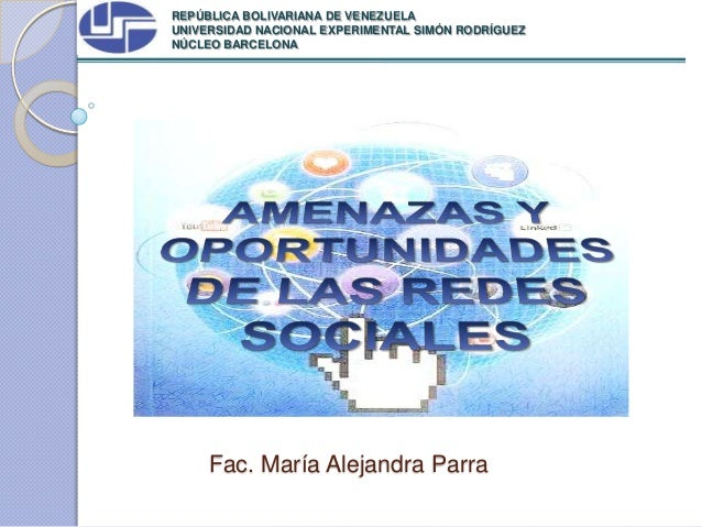 REPÚBLICA BOLIVARIANA DE VENEZUELAUNIVERSIDAD NACIONAL EXPERIMENTAL SIMÓN RODRÍGUEZNÚCLEO BARCELONA     Fac. María Alejand...