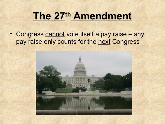 27th amendment paper