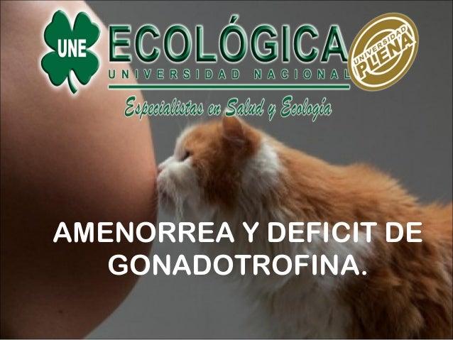 AMENORREA Y DEFICIT DE GONADOTROFINA.