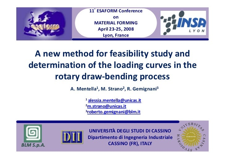 11° ESAFORM Conference                                  on                       MATERIAL FORMING                         ...