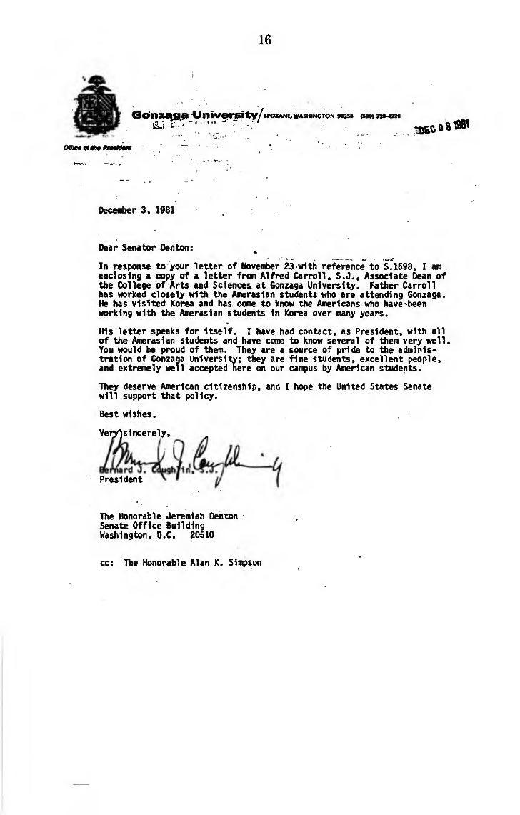 Amerasian Immigration Proposals (June 21, 1982)