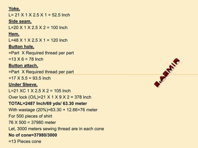 Formula, M X SQ X TPI X P L= 40 X 3 X 2.5 X 1=300 Inch W=15 X 2 X 2.5 X 2 = 150 Inch Loop, L=2.5 X 2 X 2.5 X 5 = 62.5 Inch...