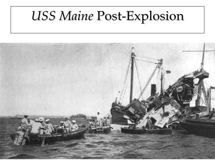 explosion of the uss maine The 1898 explosion of the uss maine in havana, cuba sparked the spanish-american war suffrage parade sash to encourage settlement of the west, the government opened former indian reservation land to homesteaders.
