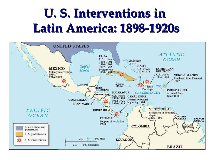 u s interventions in latin america 1898 1920s