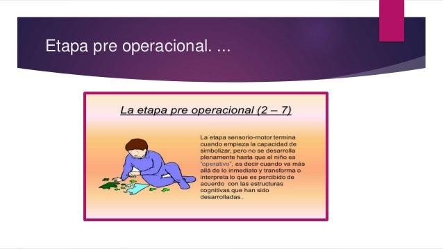 Etapa pre operacional. ...