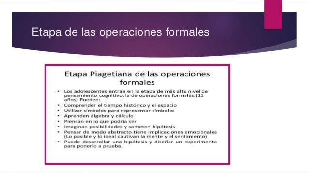 Etapa de las operaciones formales