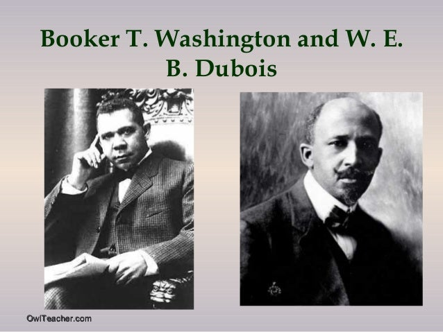 booker t washingtons and w e b duboiss activism for equality of african americans Booker t washington and w e b dubois: the problem of negro leadership   in exchange, blacks would give up demands for social equality and civil rights.