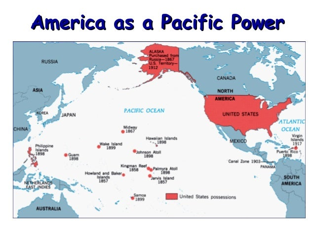 Us empire map pacific