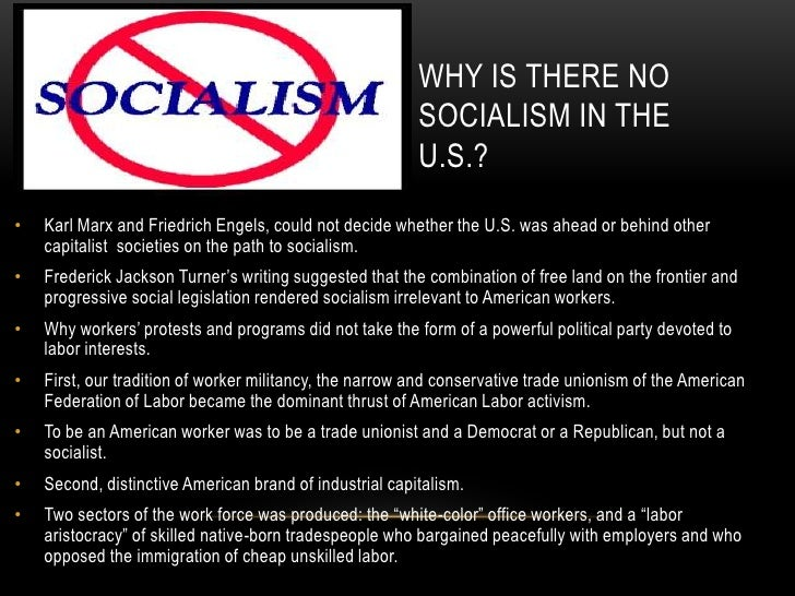 Image result for why no socialism in america