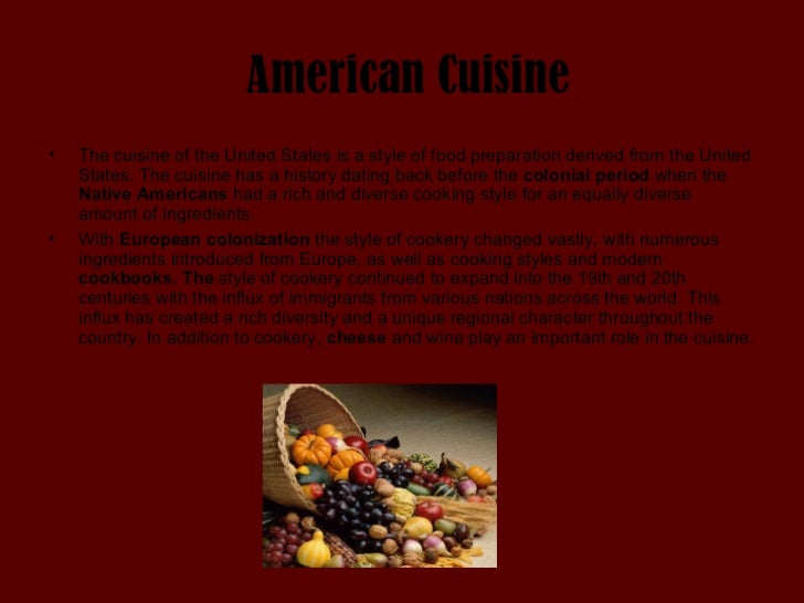 American cuisine for American cuisine facts