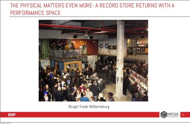 THE PHYSICAL MATTERS EVEN MORE- A RECORD STORE RETURNS WITH A PERFORMANCE SPACE  Rough Trade Williamsburg 106  Wednesday, ...