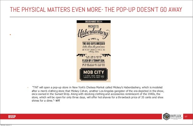 """THE PHYSICAL MATTERS EVEN MORE- THE POP-UP DOESN'T GO AWAY  •  •  """"TNT will open a pop-up store in New York's Chelsea Mark..."""