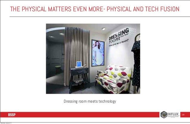 THE PHYSICAL MATTERS EVEN MORE- PHYSICAL AND TECH FUSION  Dressing room meets technology 108  Wednesday, January 8, 14