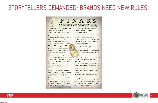 STORYTELLERS DEMANDED- BRANDS NEED NEW RULES  111  Wednesday, January 8, 14