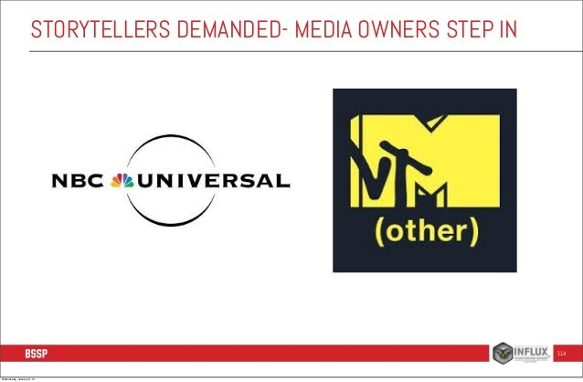 STORYTELLERS DEMANDED- MEDIA OWNERS STEP IN  114  Wednesday, January 8, 14