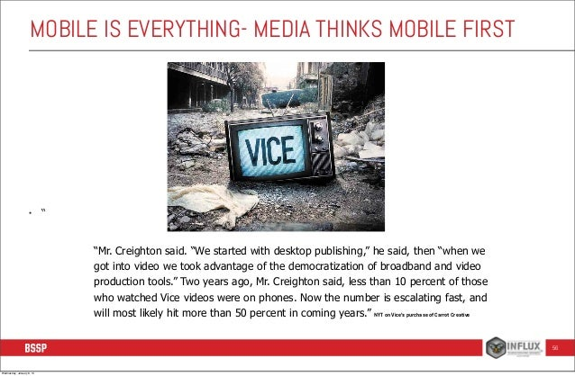 """MOBILE IS EVERYTHING- MEDIA THINKS MOBILE FIRST  •  """" """"Mr. Creighton said. """"We started with desktop publishing,"""" he said, ..."""