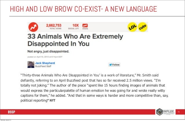 """HIGH AND LOW BROW CO-EXIST- A NEW LANGUAGE  """"Thirty-three Animals Who Are Disappointed in You' is a work of literature,"""" M..."""