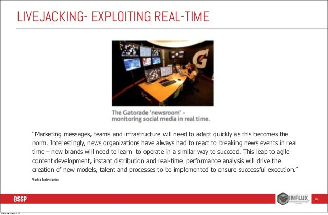 """LIVEJACKING- EXPLOITING REAL-TIME  """"Marketing messages, teams and infrastructure will need to adapt quickly as this become..."""