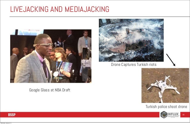 LIVEJACKING AND MEDIAJACKING  Drone Captures Turkish riots  Google Glass at NBA Draft  Turkish police shoot drone 89  Wedn...