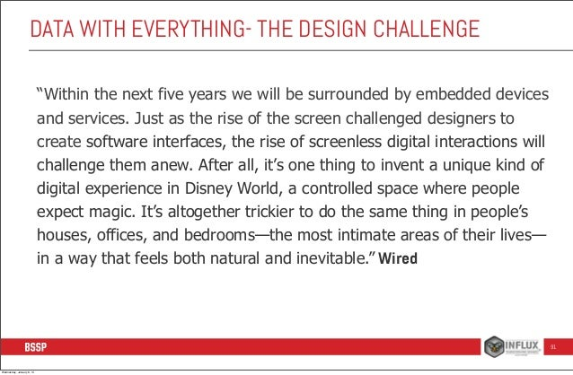"""DATA WITH EVERYTHING- THE DESIGN CHALLENGE """"Within the next five years we will be surrounded by embedded devices and servi..."""