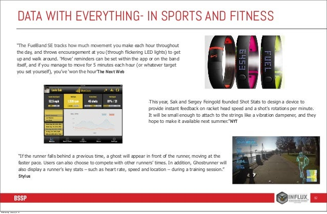 """DATA WITH EVERYTHING- IN SPORTS AND FITNESS """"The FuelBand SE tracks how much movement you make each hour throughout the da..."""