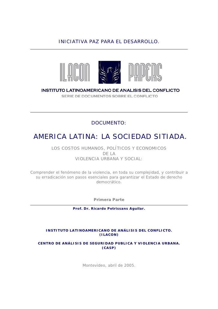 America Latina Sociedad Sitiada