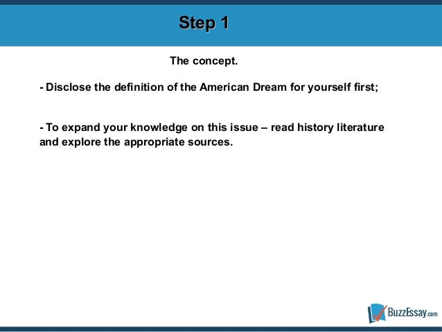 define the american dream essay