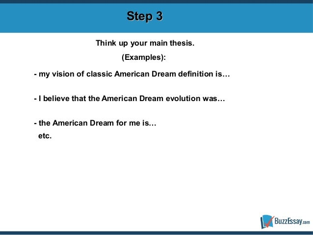 american dream definition essay