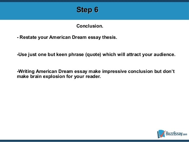 Dream essay