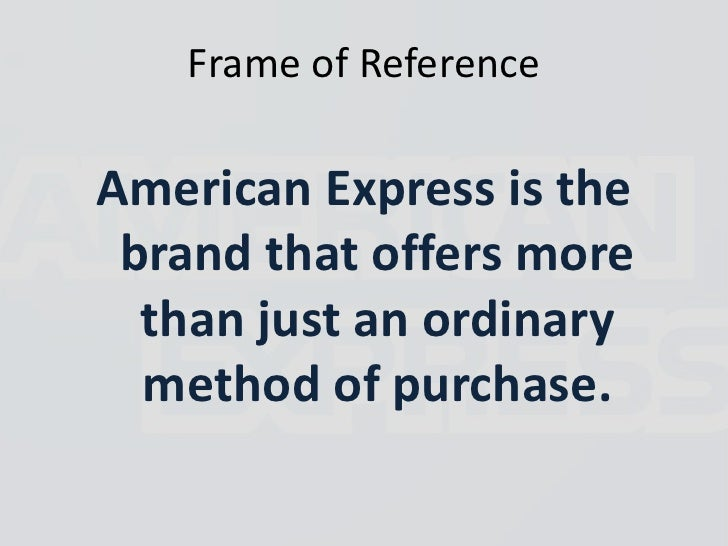 american express strategy Newcomers in our consulting group rave about the breadth and depth of work, which spans both internal and external clients you'll never be bored again internal consultants provide high-level strategic guidance to top leadership within american express.