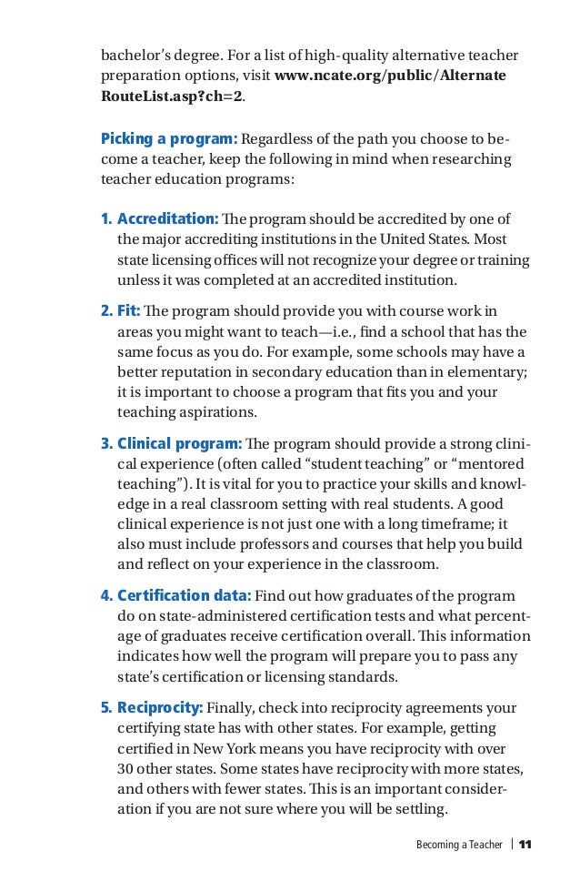 American Federation Of Teachers Requirements For Teaching Certificati
