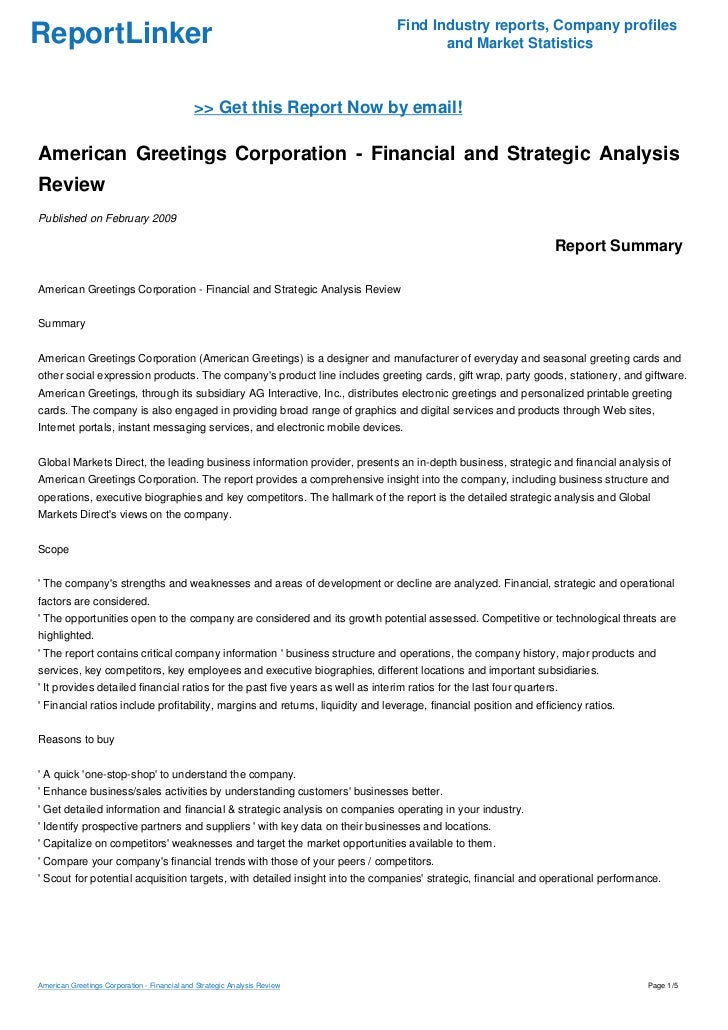 American greetings corporation financial and strategic analysis rev m4hsunfo