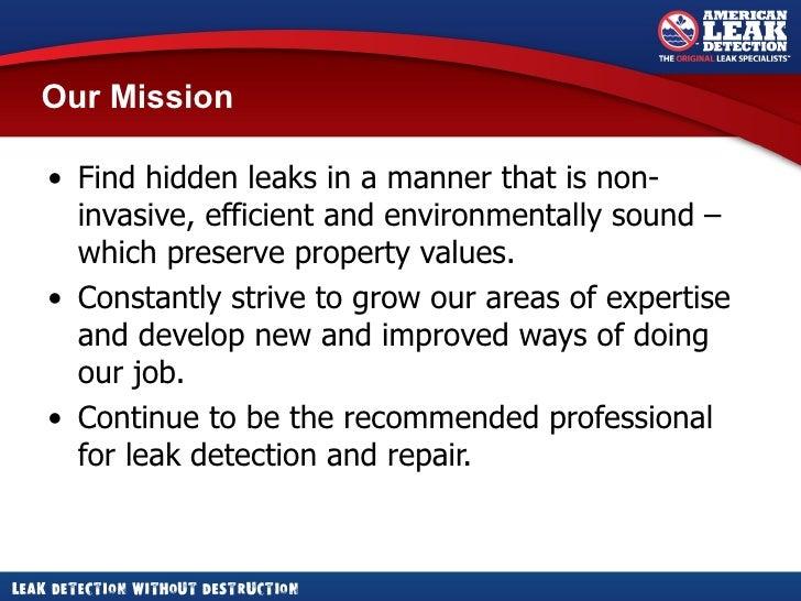 American Leak Detection - Description of Services Slide 3