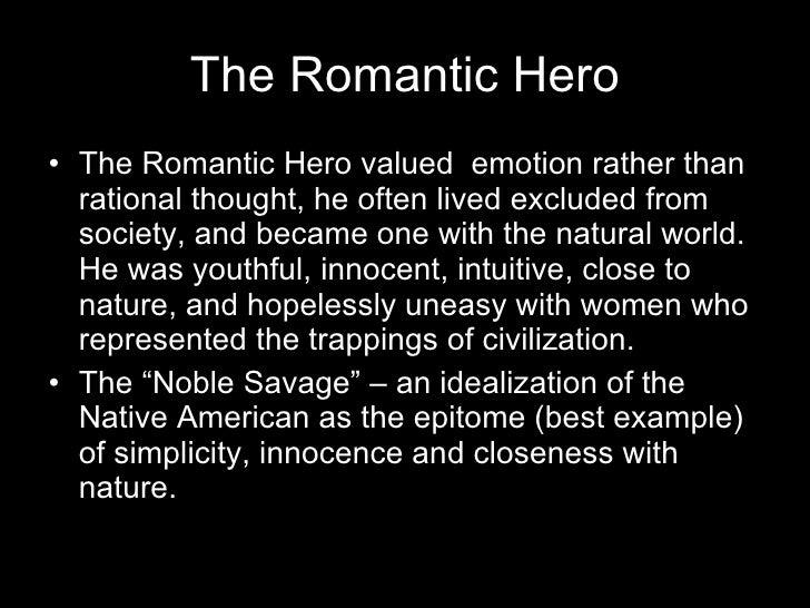 american romantic hero examples