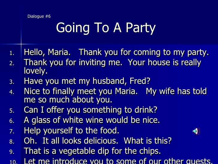 American Accent Slide Presentation – Thank You for Inviting Me to Your Party
